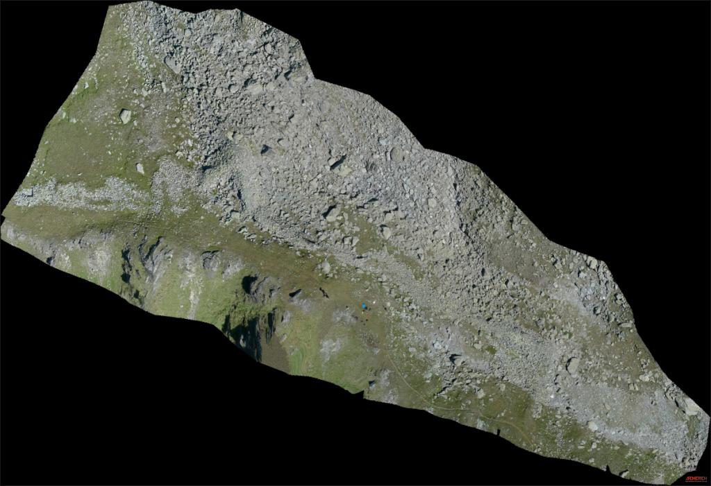 Figure 1 - Orthophoto du Mur (dit) d'Hannibal, prise de vue avec un drone