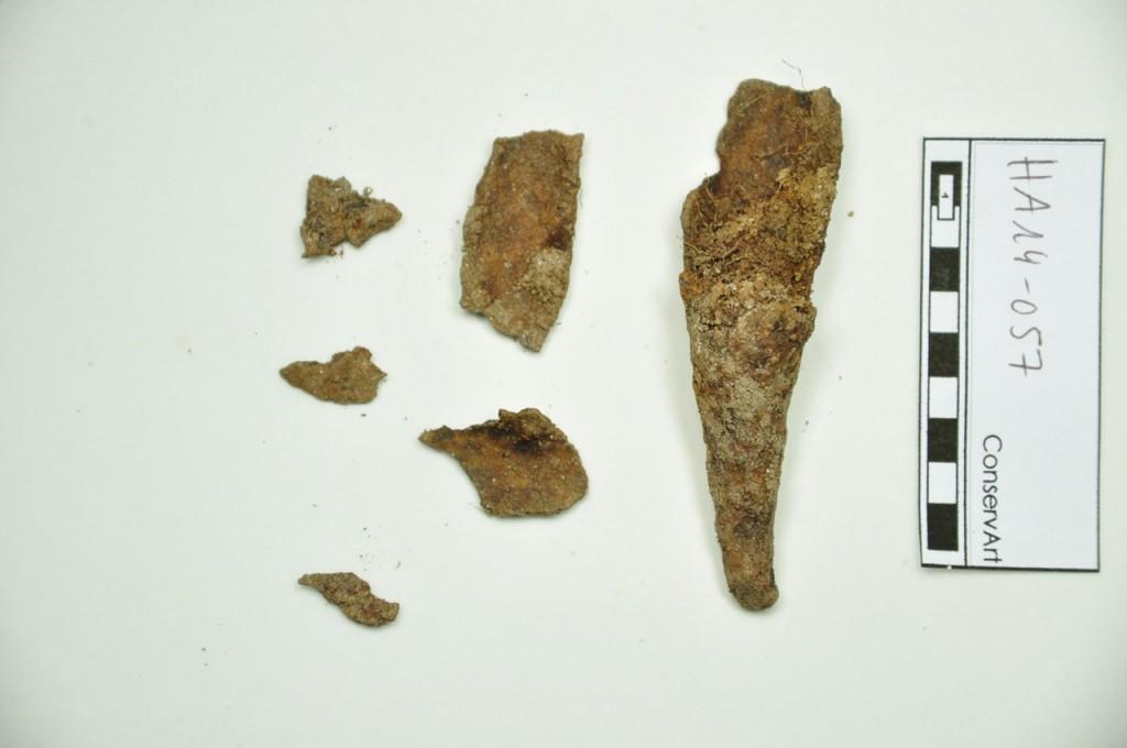 Figure 4 - Talon de lance avant restauration ( ConcervArt 2014 )