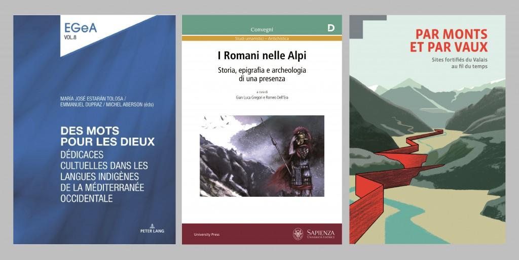 Les trois ouvrages dans lesquels des articles autour du Mur (dit) d'Hannibal ont été publiés.